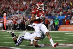 arkansas razorbacks texas bowl | Jarius Wright Pictures - AT&T Cotton Bowl - Kansas State v Arkansas ...
