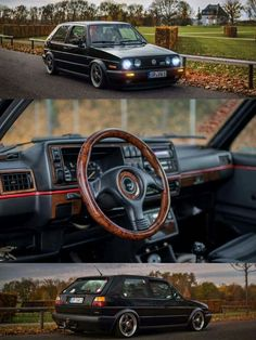 I just really love old cars, gramophones and techno music Volkswagen Golf Mk2, Vw Mk1, Vw Cars, Golf Humor, Retro Cars, Amazing Cars, Cars And Motorcycles, Dream Cars, Golf 1
