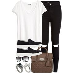 Style #8831 by vany-alvarado on Polyvore featuring polyvore fashion style H&M Prada Sport Mulberry River Island Ray-Ban
