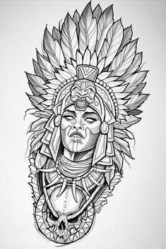 Bild Tattoos, Neue Tattoos, Body Art Tattoos, Sleeve Tattoos, Sketch Pen Drawing, Tattoo Design Drawings, Tattoo Sketches, Tattoo Outline Drawing, Aztec Drawing