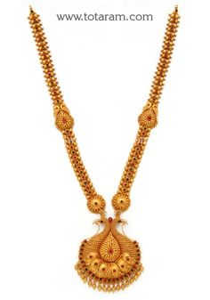 Check out the deal on Gold in Peacock Long Necklace (Temple Jewellery) at Totaram Jewelers: Buy Indian Gold jewelry & Diamond jewelry Gold Jewellery Design, Gold Jewelry, Diamond Jewelry, Jewelry Patterns, Gold Bangles, Gold Pendant, Jewelry Trends, Indian Jewelry, Temple Jewellery