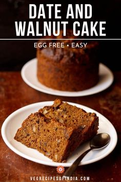eggless dates walnut coffee cake. the eggless walnut dates coffee cake i had wanted to make from so long. finally got around to make this super eggless cake. Eggless Desserts, Eggless Recipes, Eggless Baking, Tart Recipes, Vegan Desserts, Cupcake Recipes, Sweet Recipes, Veg Recipes, Brunch Recipes
