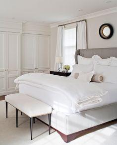 01_toronto_anne-hepfer-designs; upholstered bed with wood trim base