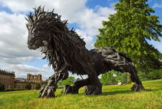 Sculptures with Black Tires by Jin Yong Ho
