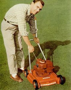 I bet he'd only charge $5 to rent this lawnmower. And an extra $20 to have him mow it himself.