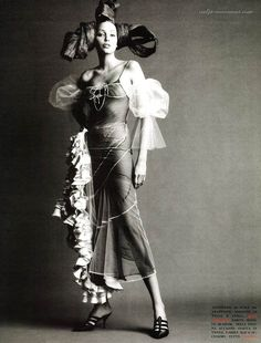 1993 - Naja Auermann in Galliano by Steven Meisel 4 Vogue