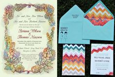 Watercolor inspired wedding invitations - so beautiful! See more @ www.elizabethannedesigns.com/blog/2011/06/07/watercolor-wedding-inspiration/watercolor-wedding-invitations-1