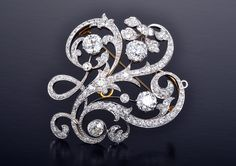 Dreicer & Co. Edwardian Diamond Brooch | Anna Lin Jewelry