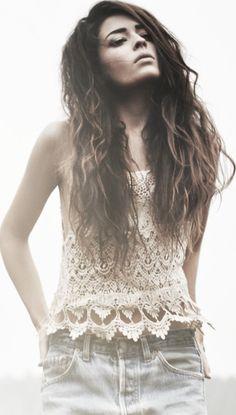 Crochet top - like the edging
