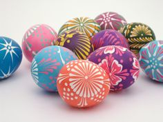 On Monday, April 14th we will have an exciting workshop to create Polish Easter Eggs just like these!!! Stay tuned to hear more info!!  Wycinanki Easter Eggs - Easter - Easter decor - holiday decorating - decor - easter bunny - easter egg - easter candy - food - crafts - lace painted eggs via pinterest