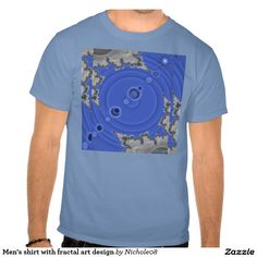 Men's shirt with fractal art design