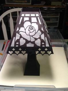 Lamp designed from SVG Cuts file.