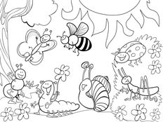 Bug Coloring Pages For Kids Free Ladybug Coloring Pages To Print Out And Color. Bug Coloring Pages For Kids Coloring Ideas Printable Insect Coloring P. Ladybug Coloring Page, Insect Coloring Pages, Garden Coloring Pages, Detailed Coloring Pages, Spring Coloring Pages, Butterfly Coloring Page, Flower Coloring Pages, Animal Coloring Pages, Coloring Pages To Print