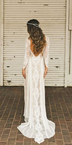 27b4e96b3452 Vintage Lace Boho Wedding Dress Long Sleeves Backless Summer Beach Wedding  Dress 2018 Summer Bohemian Wedding Dress · Remotemoon · Online Store  Powered by ...