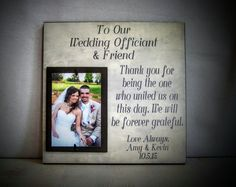 This could be something to give Matt's gpa? As a thank you for being your officiant
