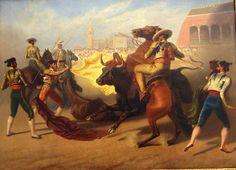 """Suerte de varas"". Horace Vernet, 1.840. Colección Real Maestranza de Caballería. Sevilla."
