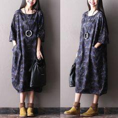 Women spring 100% linen dress