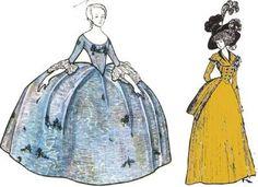 Женский костюм в 18 веке