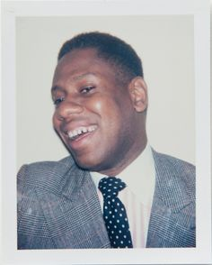 Andy Warhol: A very young Andre Leon Talley, 1984.  #Polaroid