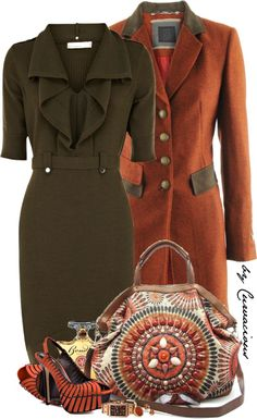 """""""Earth & Amber"""" by curvacious on Polyvore"""