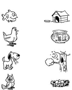 Animal Worksheets, Printable Preschool Worksheets, Kindergarten Math Worksheets, Free Preschool, Preschool Curriculum, Preschool Science, Activity Sheets For Kids, Learning English For Kids, Kids Education