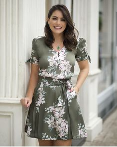 Image may contain: 1 person, standing Dress Attire, Tee Dress, Dress Outfits, Fashion Dresses, Simple Dresses, Casual Dresses, Summer Dresses, Classy Outfits, Beautiful Outfits