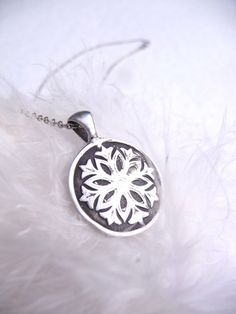 Snow White snowflake pendant custom made to order by DreamofaDream