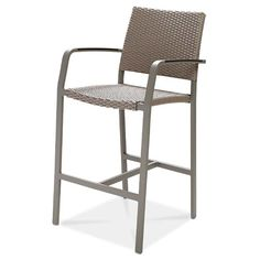 "ADRIATIC Bar Chair  AC5761N18RAT Width: 22"" Depth: 23 5/8"" Height: 42 7/8″ Seat Height: 28""  Wicker: 7365 Weaving Style No.04 Finish: Powder Coated 70576"