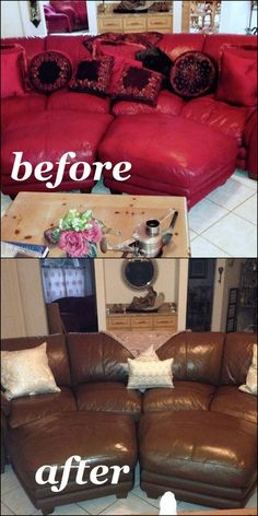 Leather Couch Makeover!