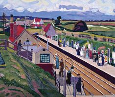 Perspective Art, Camden Town, Spencer, British English, Poster, England, Painting, Post Impressionism, Surrey