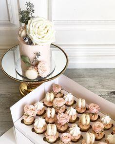 Cupcake Cake Designs, Cupcakes Design, Cupcake Gift, Cupcake Cakes, Wedding Cupcakes, Wedding Desserts, Sweet Cakes, Cute Cakes, Chocolates
