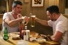 Simon Cowell and Stevi Ritchie - The unlikely pair enjoyed drinks together