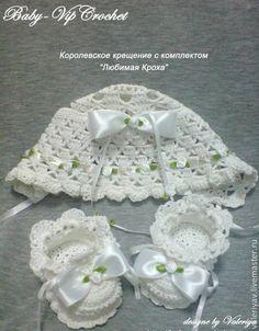 """Купить Крестильный комплект """"Любимая кроха"""" - белый, крещение, мальчик, девочка, винтаж, крестильный комплект"""