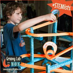 """Engineering Design Challenge: Can you design and build a roller coaster out of paper using only your Groovy Lab in a Box materials? Order your """"What Goes Up"""" single box here: www.groovylabinab... #STEM #rollercoasters #education"""