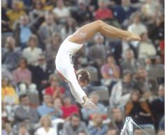 Olga Korbut on the uneven bars during the 1972 Munich Olympics - gymnastics