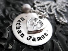 Hand Stamped Mommy Jewelry  Personalized Necklace  by BragAboutIt, $66.00