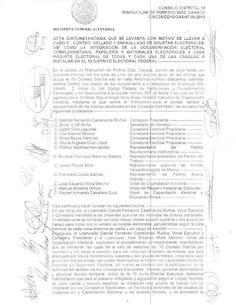 Acta donde denuncian mas de 6mil boletas SOBRANTES errores de millonarios del IFE