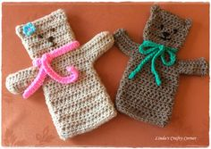 Crochet Teddy Puppet Pattern         Materials   Double knit Yarn approximately 25 grams in main colour   4 mm crochet hook     Abbreviati...