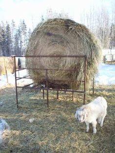 Square Haysaver Goat Round Bale Feeder