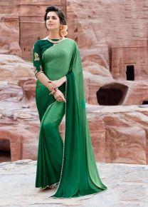 359e3d1141 Buy Craftsvilla Green Color Satin And Silk Lace Work Partywear Saree online.