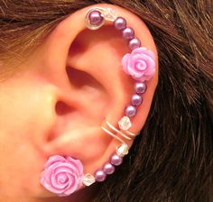"Non Pierced Ear Cuff  ""Forever Beautiful"" Cartilage Conch Cuff Silver tone Wedding Bridal Prom Quinceanera. $13.00, via Etsy."