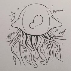 This time with something simple but I think fits very well for todays theme. Besides tomorrow will be the last inktober day and I have a little spoiler for you guys. It will be a dark fantasy fanart. Sea Life Art, Traditional Paintings, Very Well, Jellyfish, 30 Day, Dark Fantasy, Inktober, 30th, Fanart
