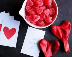 Lindos y simples imprimibles para San Valentín de Hank+Hunt con instrucciones de como usarlos. (toma en cuenta que tanto el tutorial como los mensajes de los imprimibles están en inglés).