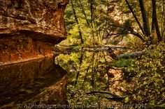 West Fork Trail in Fall Oak Creek Arizona #Reflection #Stream #Sedona