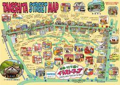Takeshita street map