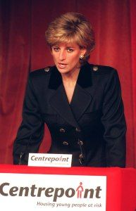 HRH PRINCESS OF WALES Patron, Centrepoint (charity for homeless...