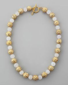 Sada Pearlescent Beaded Necklace by Les Amis at Neiman Marcus.