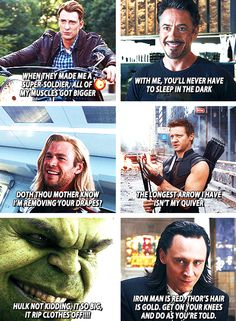 The Avengers Pick-up Lines