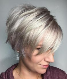 Silver Pixie with Long Chopped Layers
