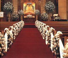 Catholic Church WEDDING CEREMONY WITH ROSES in NYC | CHURCH CEREMONIES